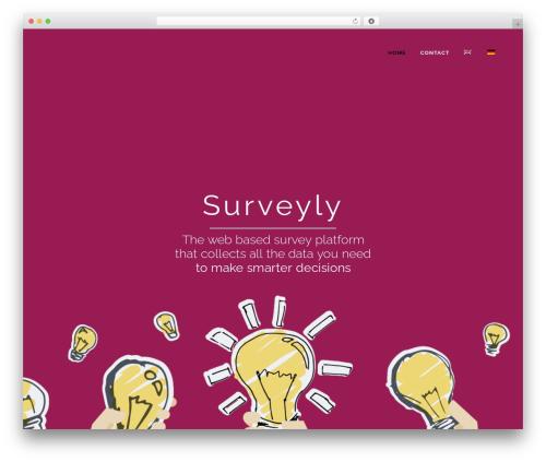Bridge WordPress theme - surveyly.com