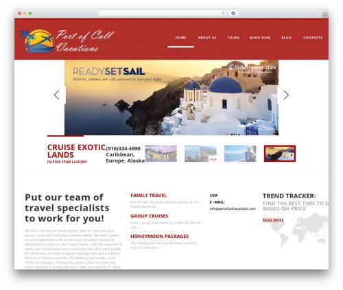 cherry theme WordPress - portofcallvacations.com