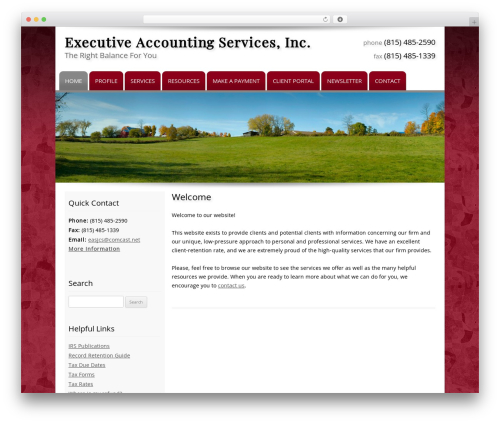 Customized business WordPress theme - eastaxpro.com