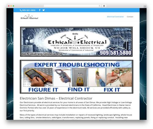 Divi WordPress theme design - sandimascaelectrician.com