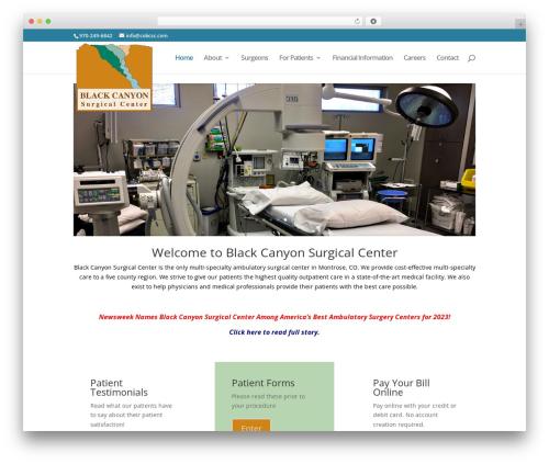 Divi WordPress theme - blackcanyonsurgicalcenter.com