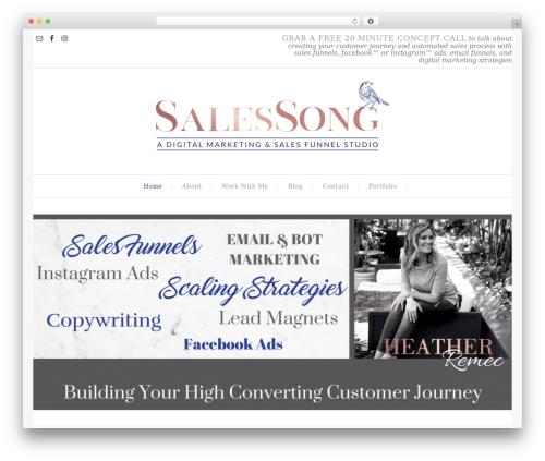 Swank Theme premium WordPress theme - salessong.com