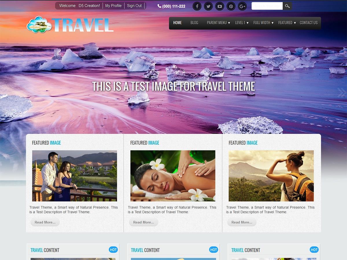 Travel Extend Child WordPress travel theme