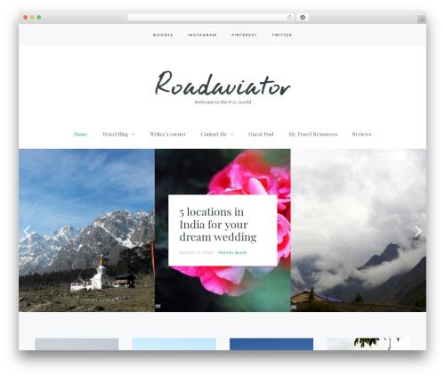 WordPress theme Carbis - roadaviator.com
