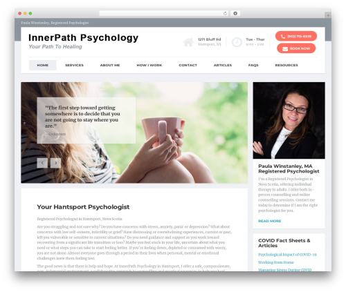 WordPress theme MentalPress WP Theme - innerpathpsychology.com