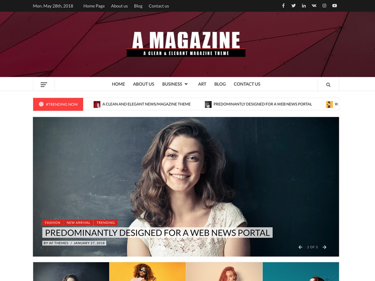 A Magazine WordPress news theme