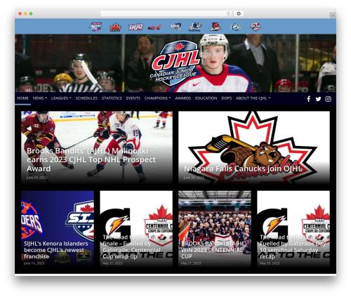 Barracuda WordPress template - cjhlhockey.com