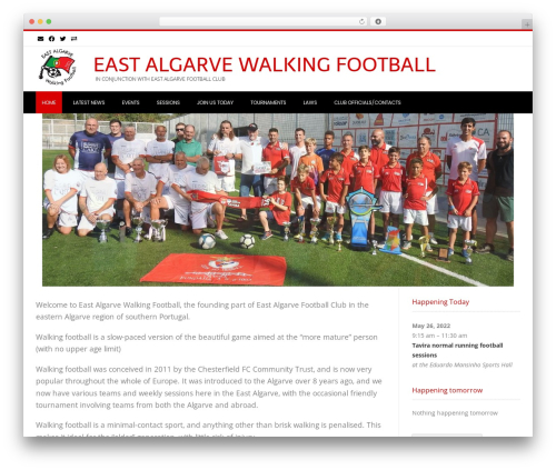 Conica theme WordPress free - walkingfootballalgarve.com