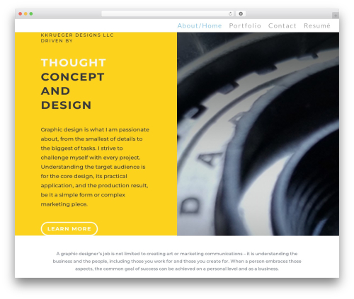 Divi WordPress portfolio template - kkruegerdesigns.com