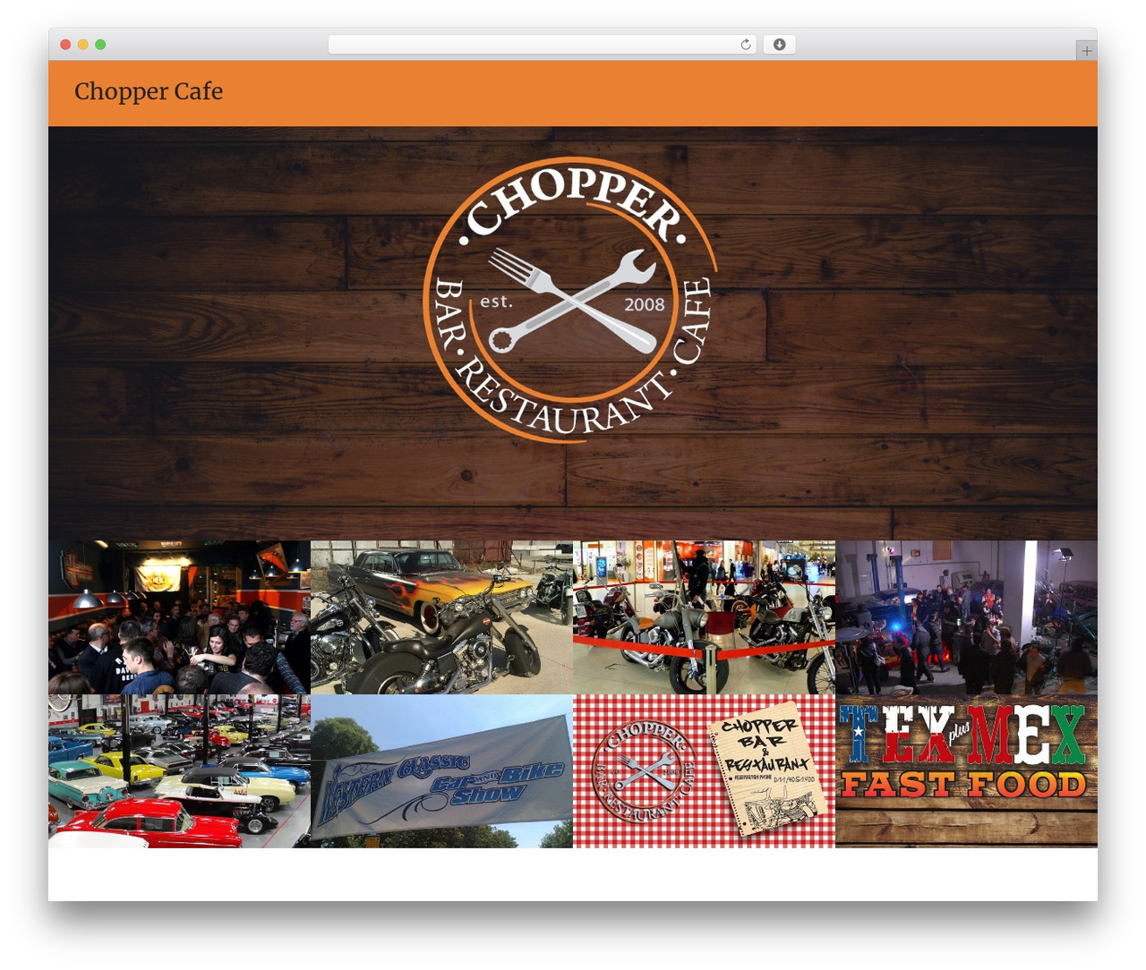 Oren WordPress template free - choppercafe.com