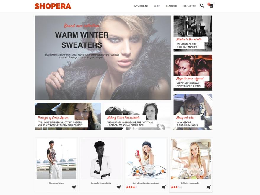 Shopera Child 01 WordPress shopping theme