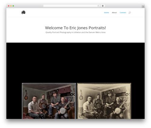 WordPress theme Divi - ericjonesportraits.com