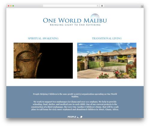 WordPress website template Jupiter - oneworldmalibu.com