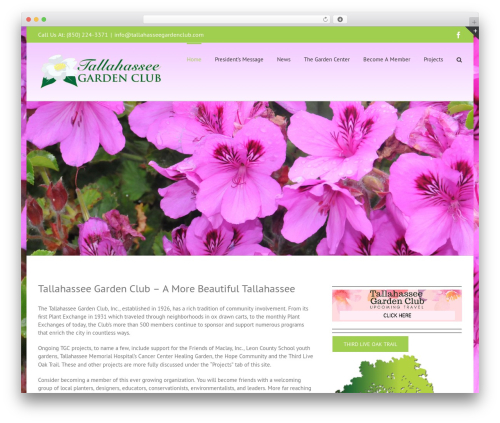 Avada landscaping WordPress theme - tallahasseegardenclub.com