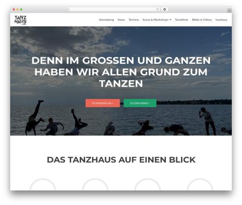 Best WordPress theme Zerif Lite - tanzhaus-lindau.de