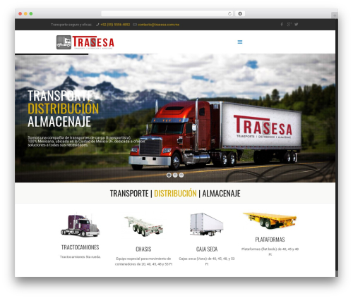 Betheme WordPress theme - trasesa.com.mx