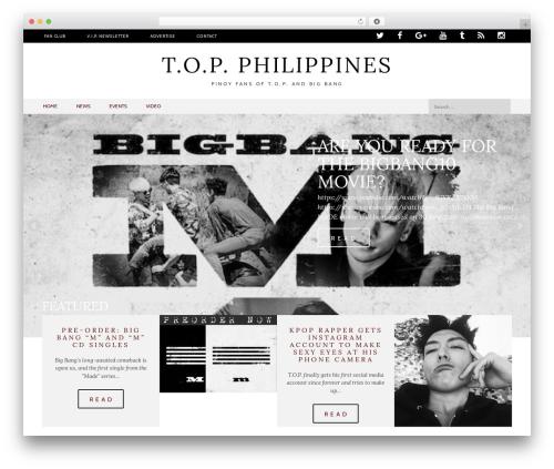 Black And White WordPress theme - topphilippines.org