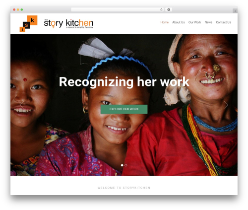 Charity Life Child Theme WordPress website template - thestorykitchen.org