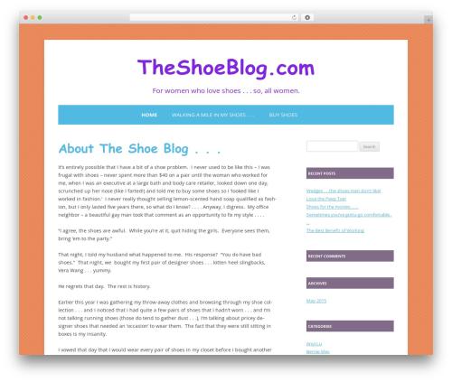 Colorful Delight WordPress blog template - theshoeblog.com