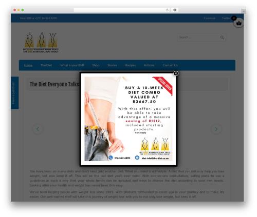 Free WordPress eCommerce Product Catalog Plugin for WordPress plugin - the-diet.co.za