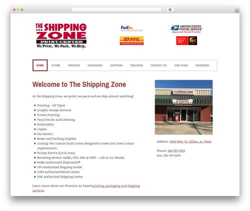 Coverage premium WordPress theme - theshippingzone.com