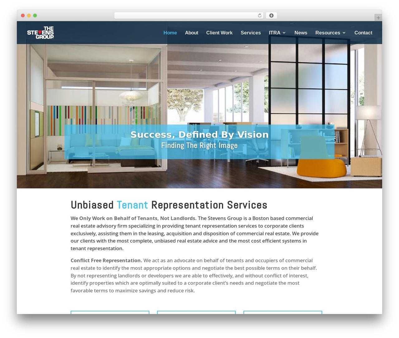 Divi WordPress page template - thestevensgrp.com