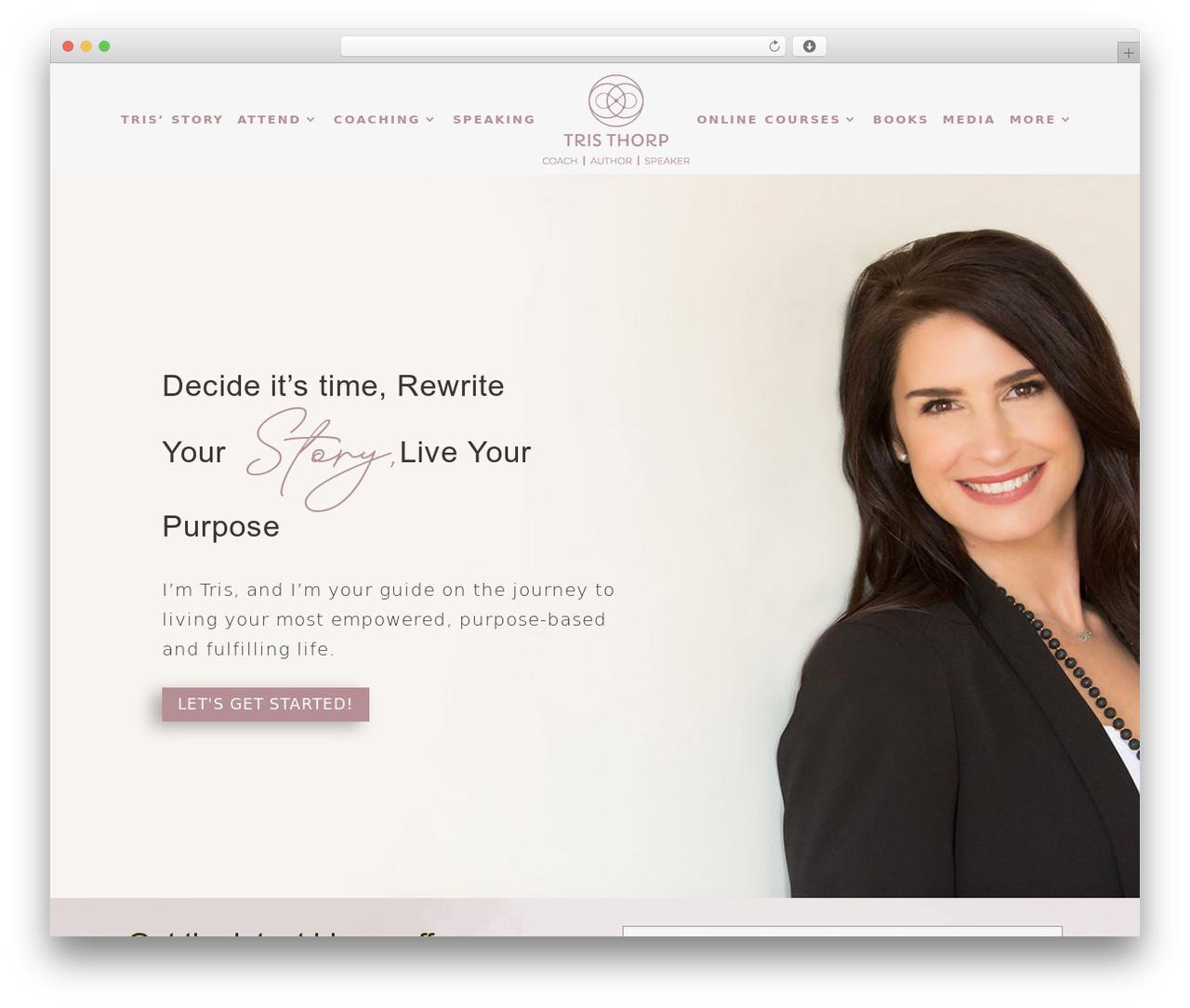 Divi WordPress template - tristhorp.com