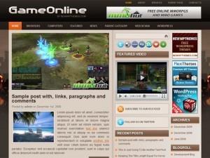 GameOnline WordPress blog template