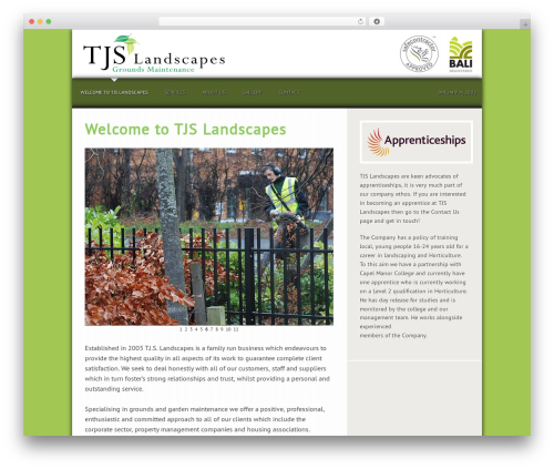 Genesis WordPress theme - tjslandscapes.co.uk