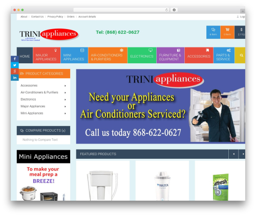 HomeShop theme WordPress - triniappliances.com
