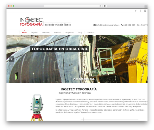 INOVADO WP theme - topografiaenalmeria.es