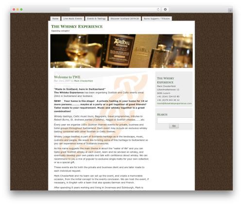 MistyLook WordPress theme - thewhiskyexperience.com