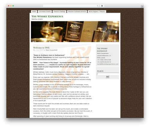 MistyLook WP template - thewhiskywizard.com