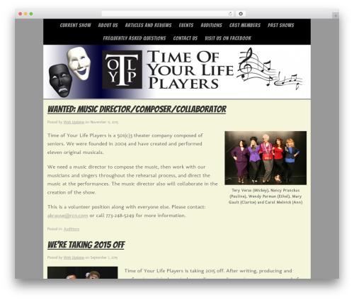 Omega WP theme - timeofyourlifeplayers.com