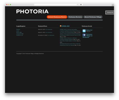 Photoria WordPress theme design - trichomevillage.com