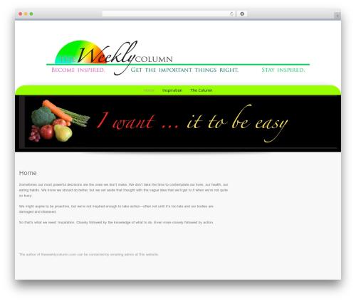 Preference Pro WordPress theme - theweeklycolumn.com