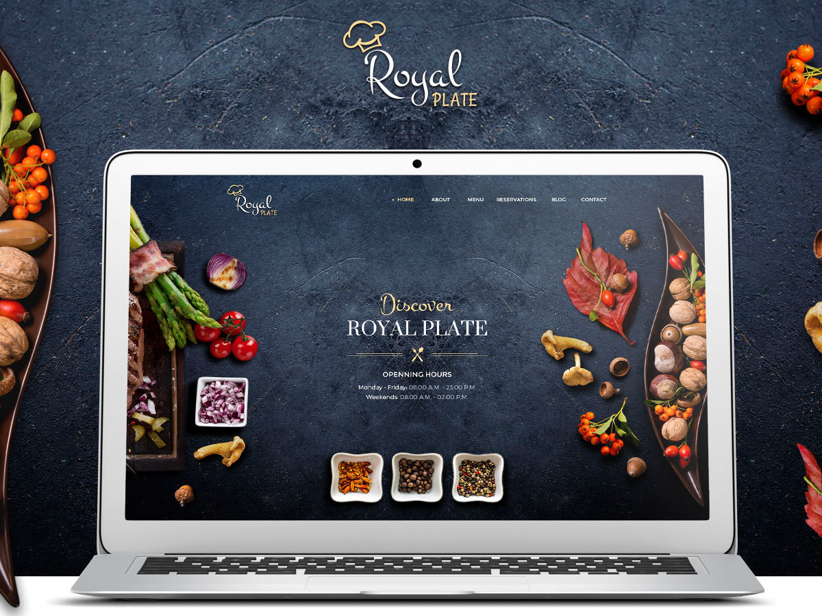 Royal Plate WordPress template for business