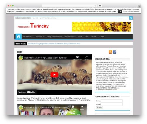Sahifa (shared on wplocker.com) best WordPress template - turincity.it