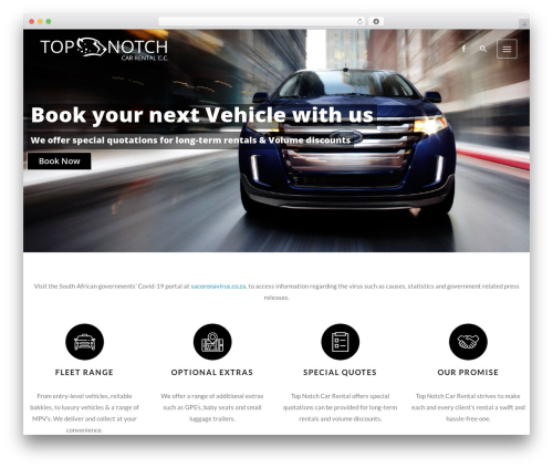 Template WordPress Autospa - topnotch.co.za