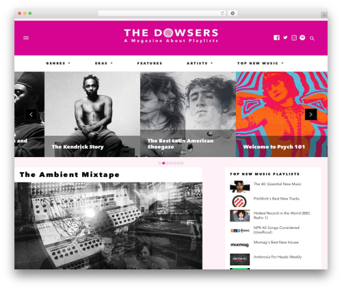 The Voux WordPress theme - the-dowsers.com