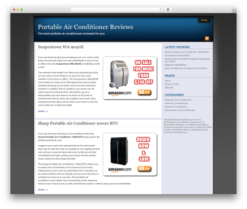 Theme WordPress Affiliate Internet Marketing theme - topportableairconditioners.com