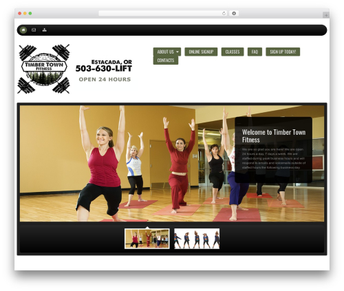 WordPress template cherry - timbertownfitness.com