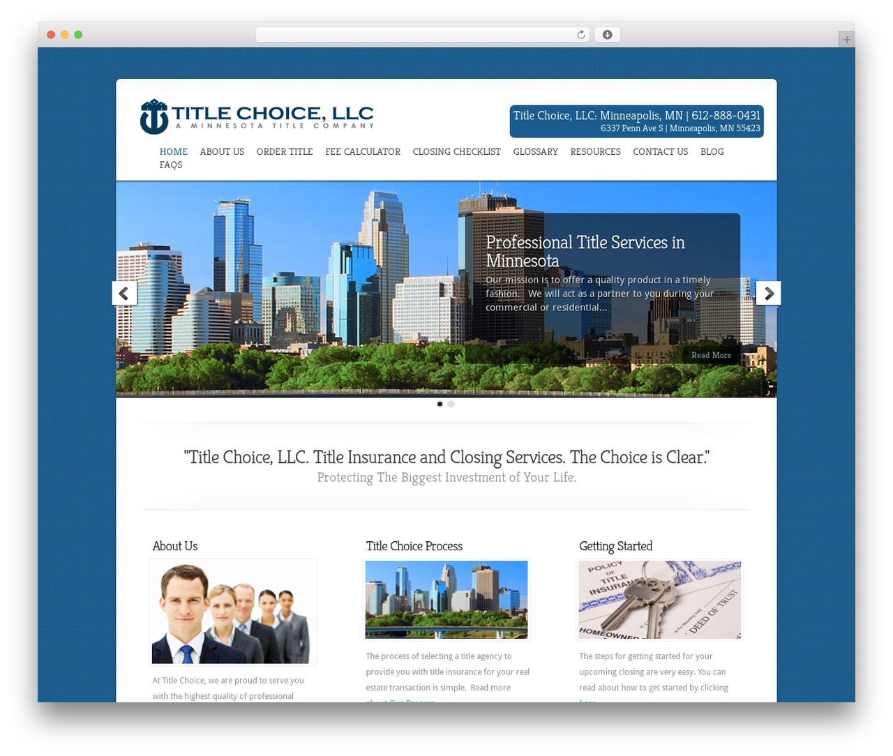 WordPress theme Chameleon - twincitiestitle.com