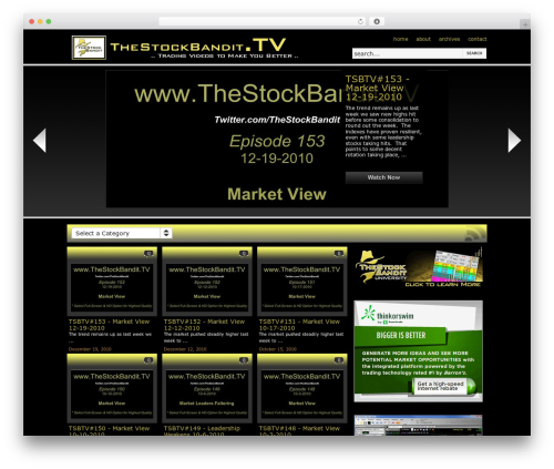 WordPress theme On Demand - thestockbandit.tv