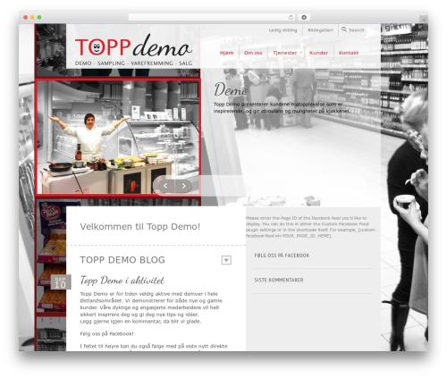 WordPress theme Saving Grace - toppdemo.no