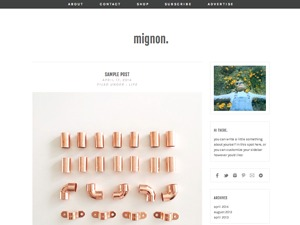 WordPress website template mignon
