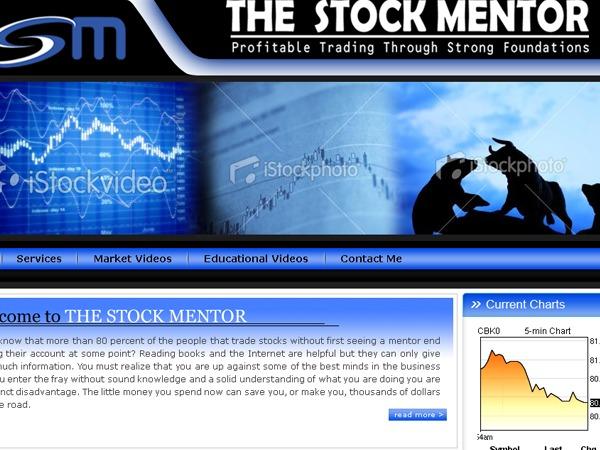 WordPress website template The Stock Mentor