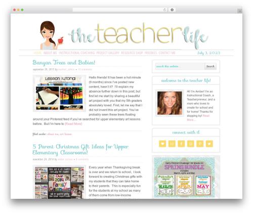 WP template Adorable - teacherlifeblog.com