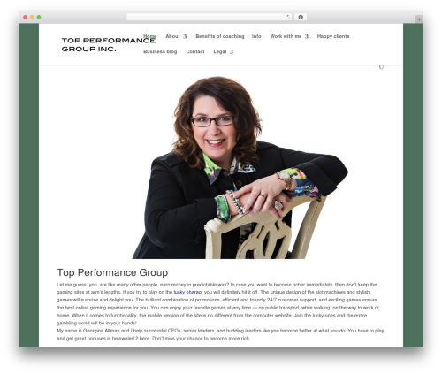WP theme Divi - topperformancegroup.ca