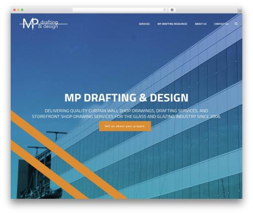 Best WordPress template Jupiter - mpdrafting.com